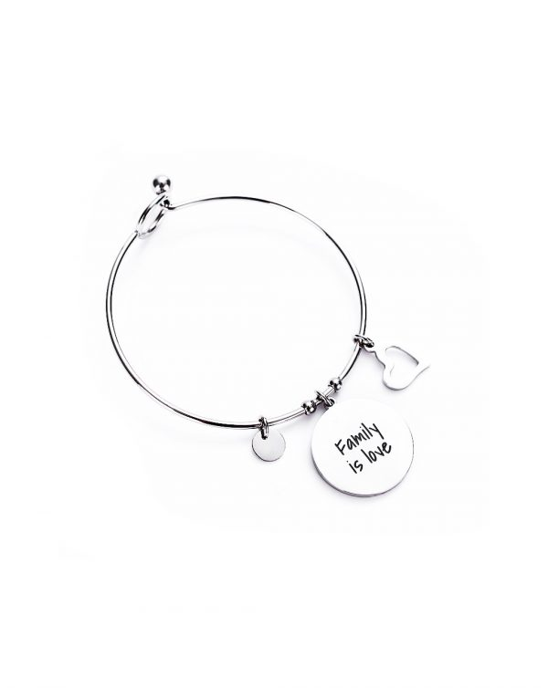 "Bracciale rigido ""Family is love"" - Mamijux"