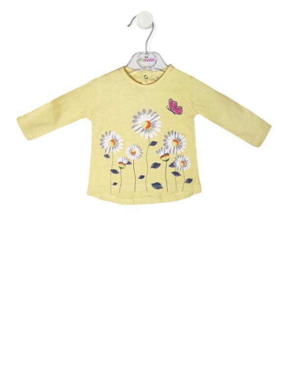 T-shirt manica lunga con stampa fiori - Prénatal