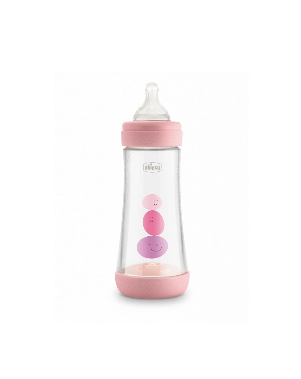 Perfect 5 biberon 300 ml rosa - flusso veloce chicco - Chicco