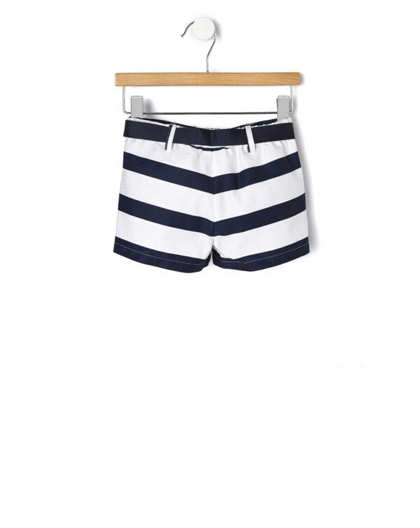 Pantaloncino popeline con fantasia a righe - Prenatal 2