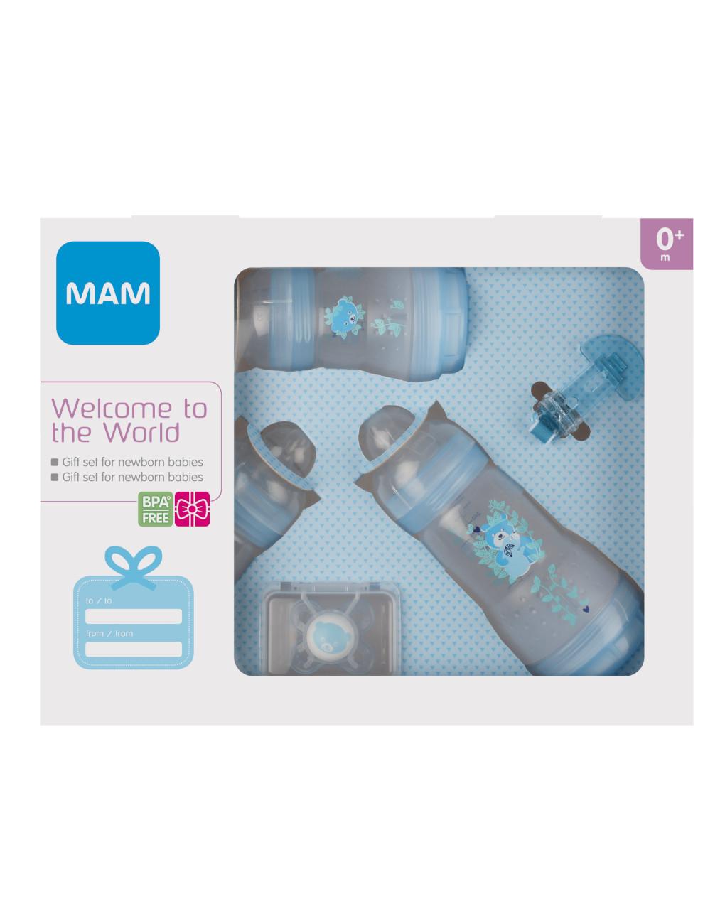Welcome to the world, confezione regalo, maschio - Mam