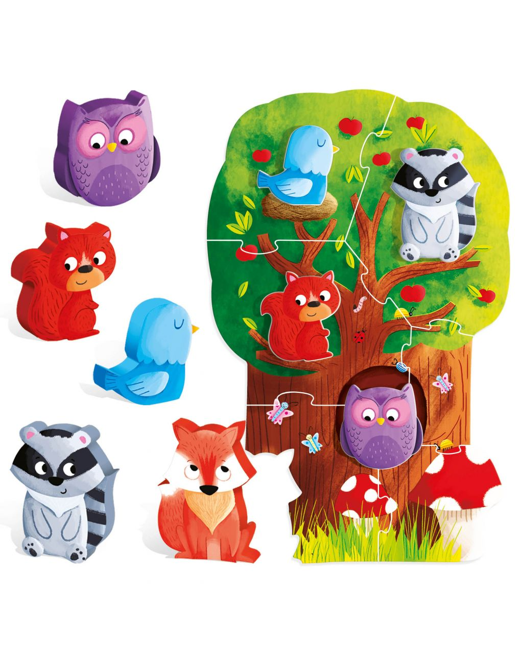 Headu - montessori first puzzle the forest - Headu