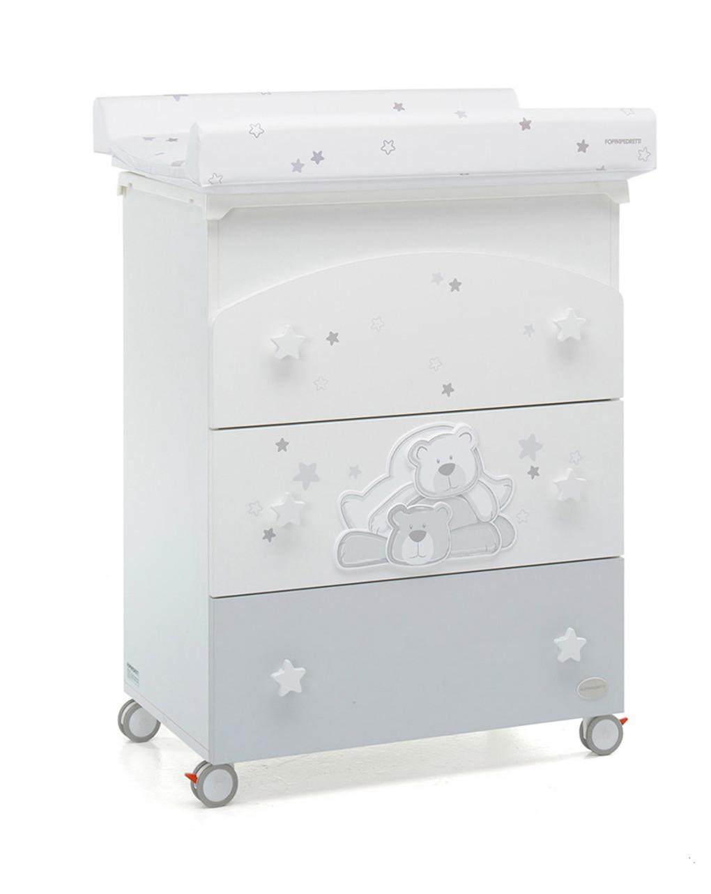 Bagnetto cassettiera dolce stella bianco - Foppapedretti