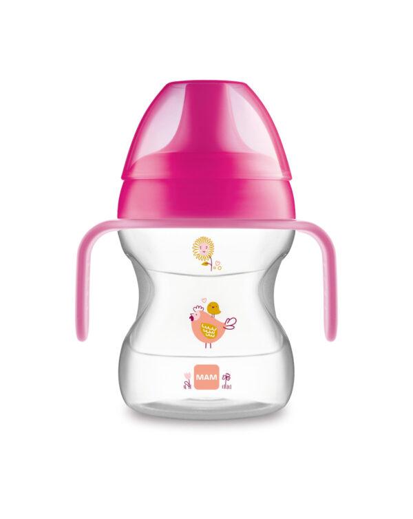 Tazza Learn to Drink 190ml con Extra Soft Spout e con manici, femmina - Mam