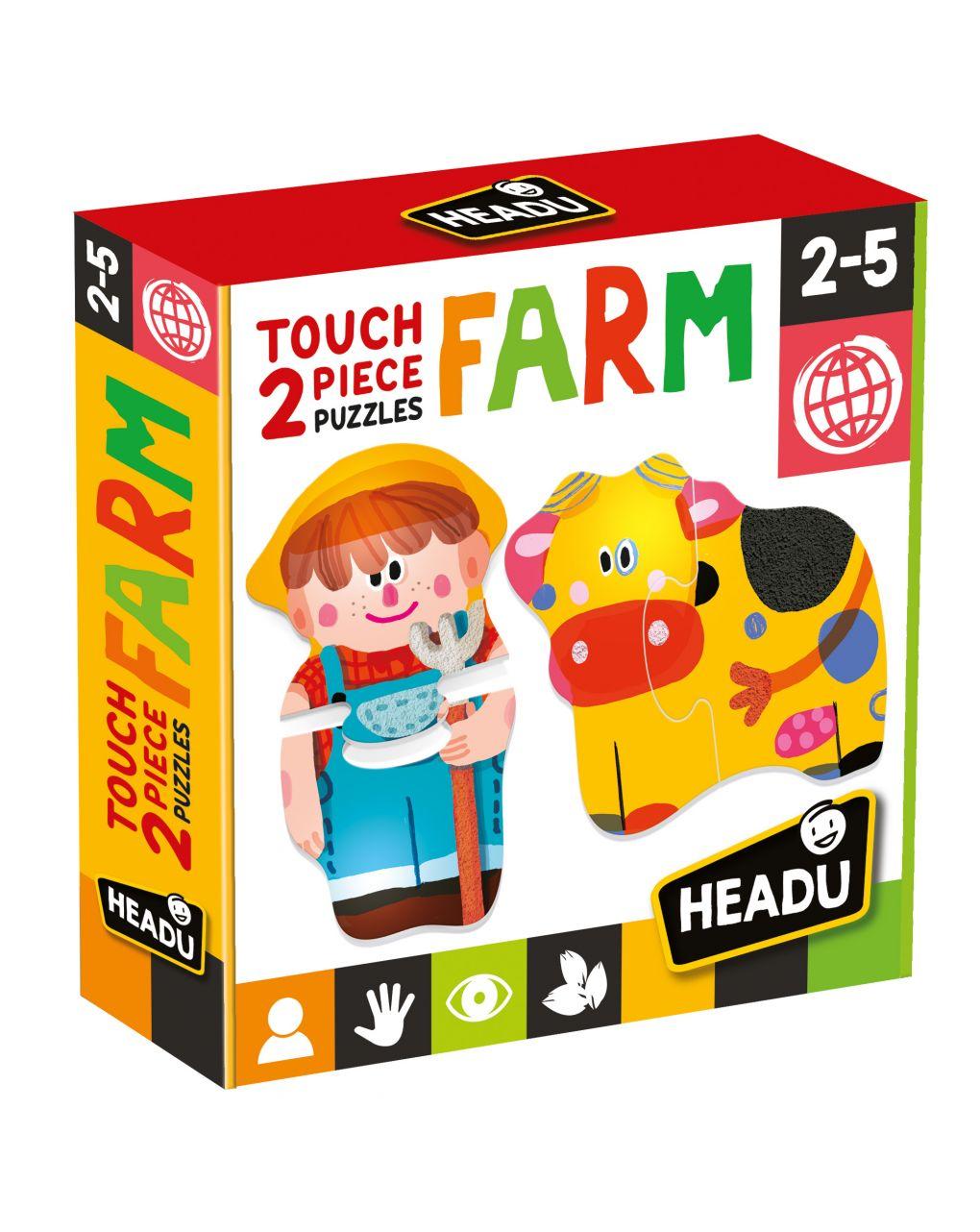 Headu - 2 pieces puzzle touch farm - Headu