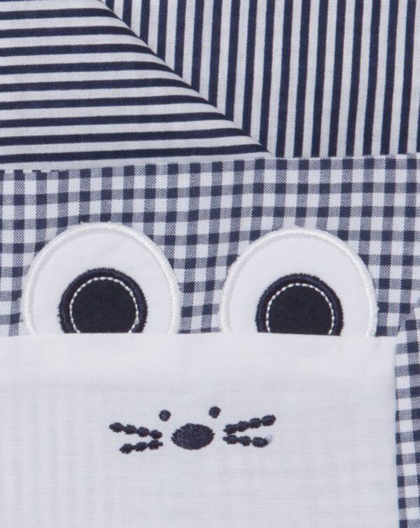 Set letto blu vichy con topolino - Prenatal 2