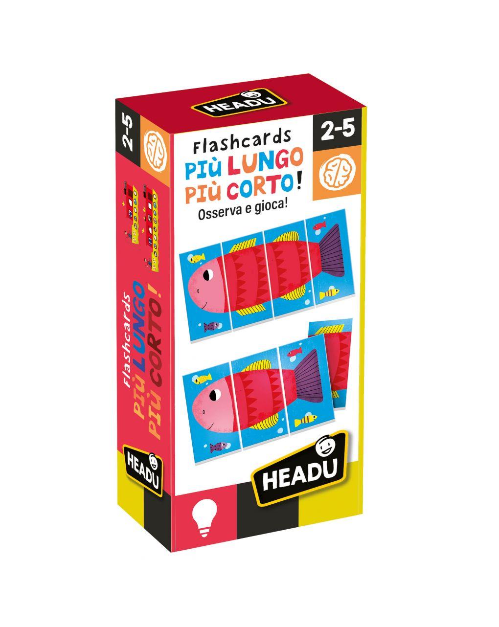 Flashcards più lungo e più corto - Headu
