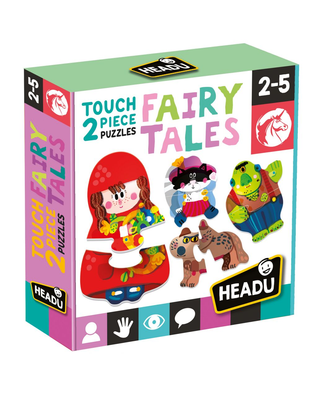 Headu - 2 pieces touch puzzle fairy tales - Headu