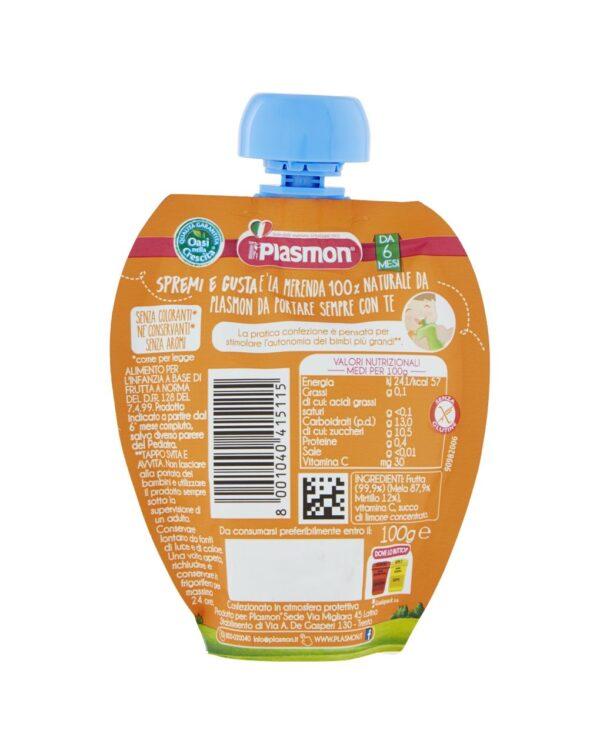 Plasmon - Spremi e gusta mela e mirtillo 100g - Plasmon