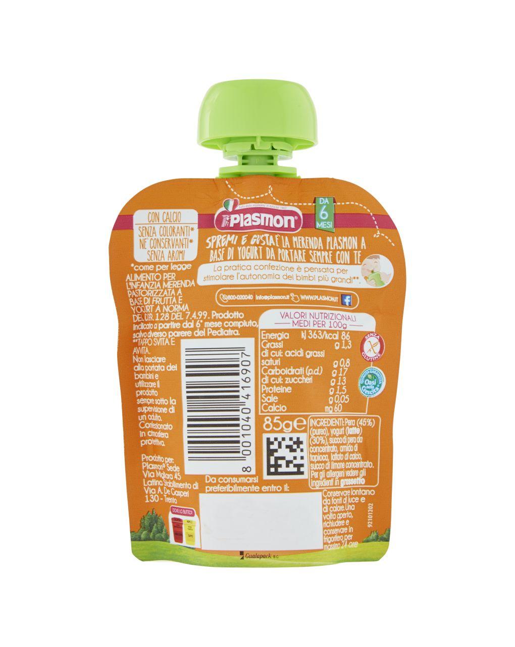 Plasmon - spremi e gusta dessert pera e yogurt 85g - Plasmon