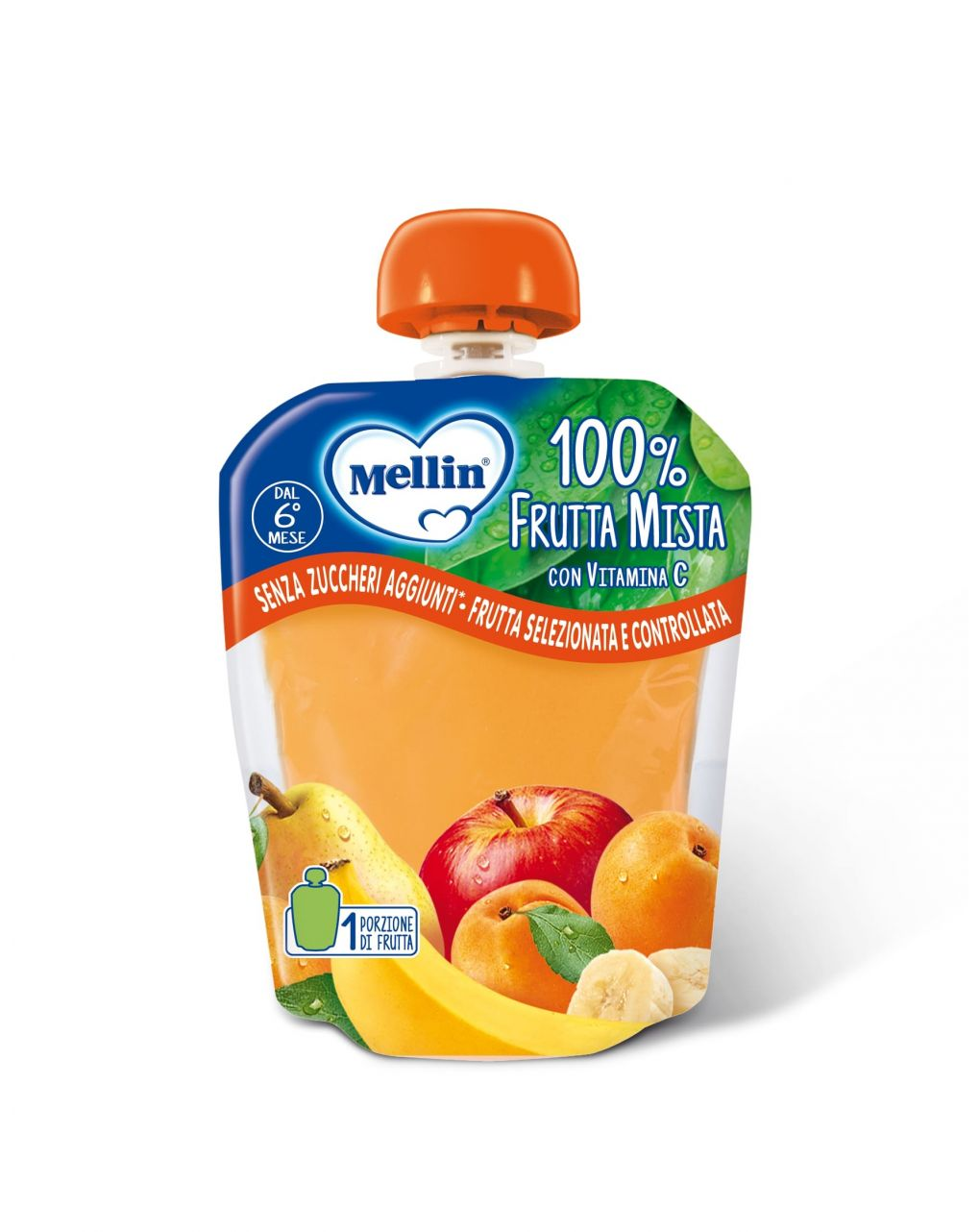 Mellin - pouch frutta mista 90g - Mellin