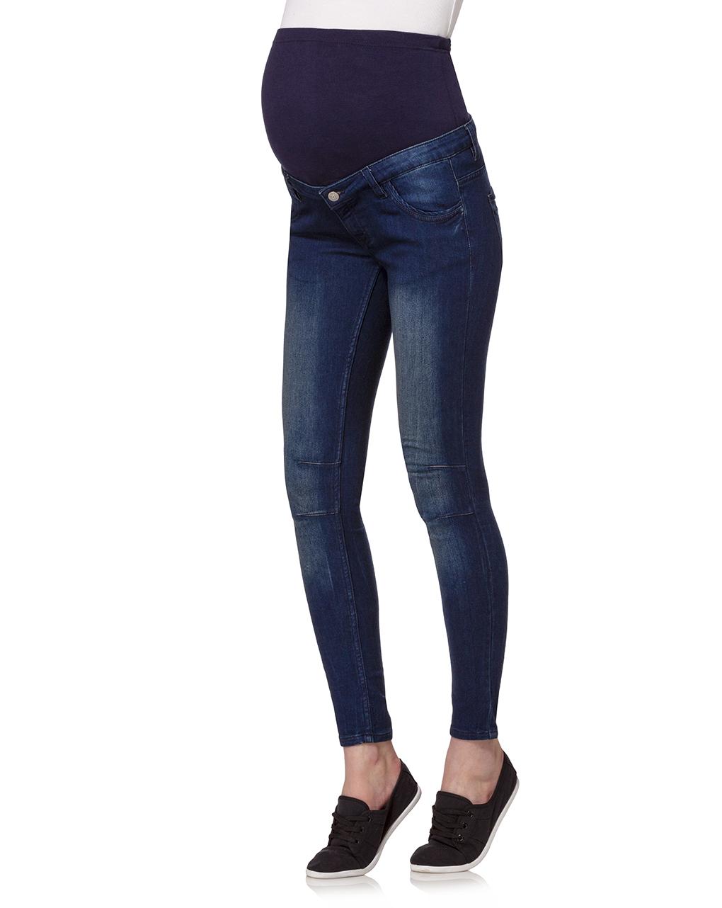 Pantalone skinny in denim blu scuro - Prénatal