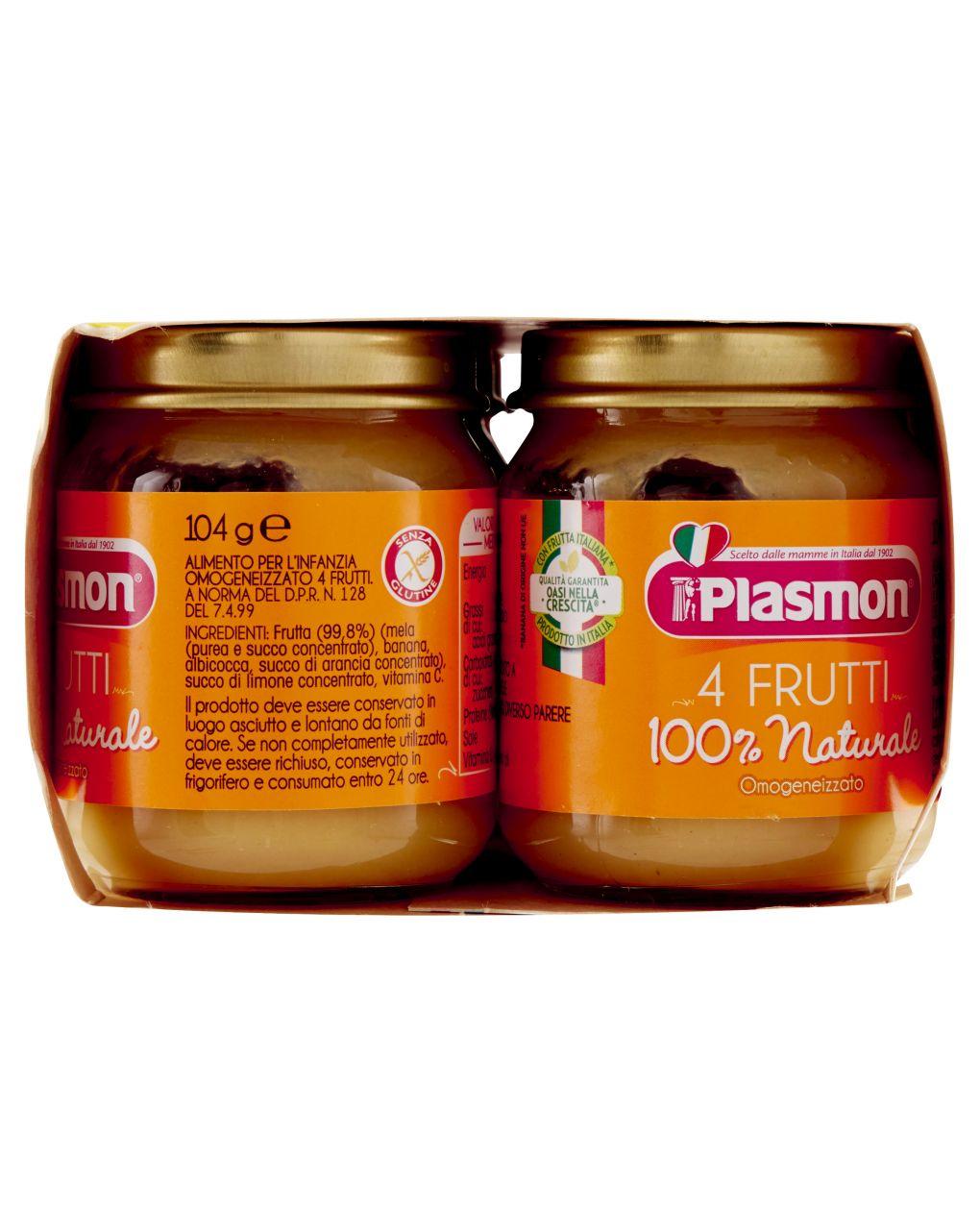 Plasmon - omogeneizzato 4 frutti 6x104g - Plasmon