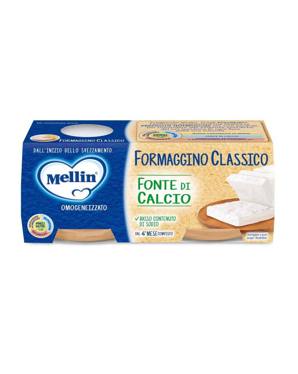 Mellin - baby formaggino classico 2x80g - Mellin