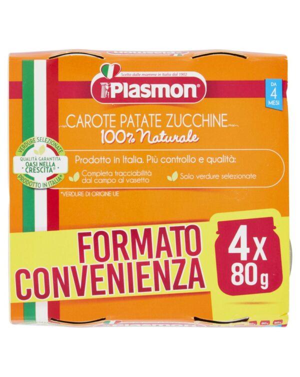 Plasmon - Omogeneizzato carote, patate e zucchine 4x80g - Plasmon