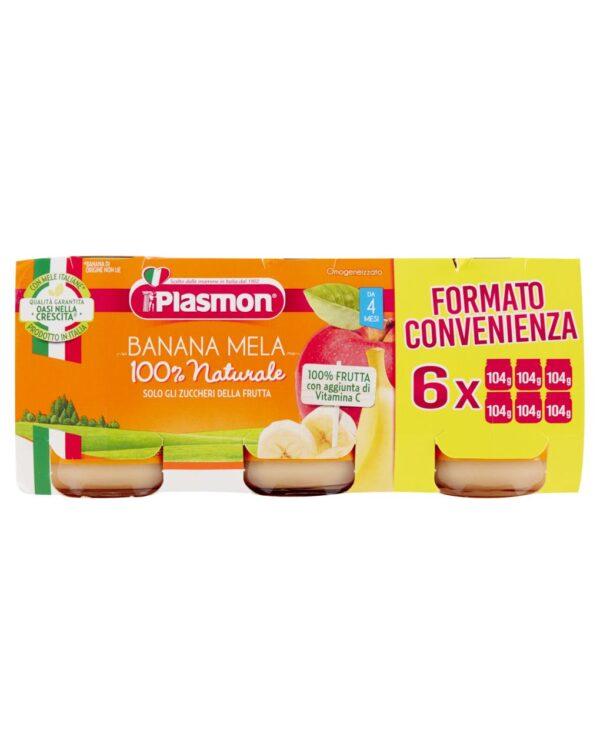 Plasmon - Omogeneizzato banana e mela 6x104g - Plasmon