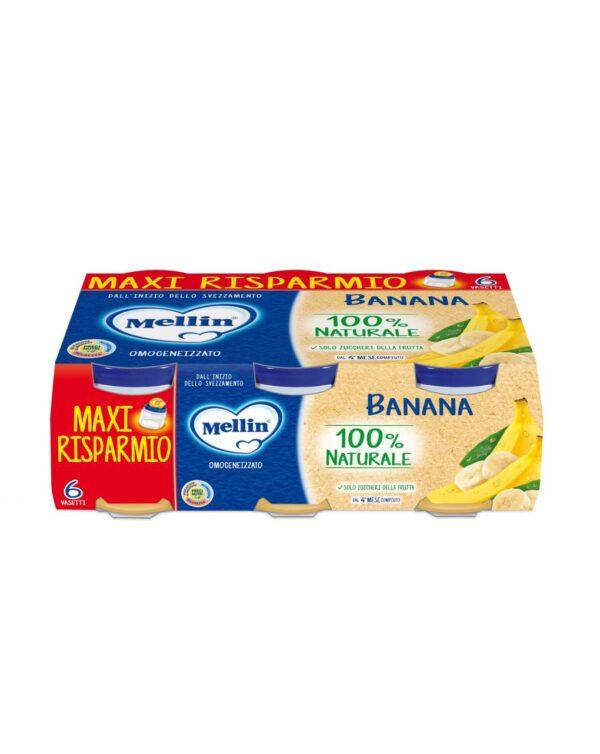 Mellin - Omogeneizzato banana 6x100g - Mellin