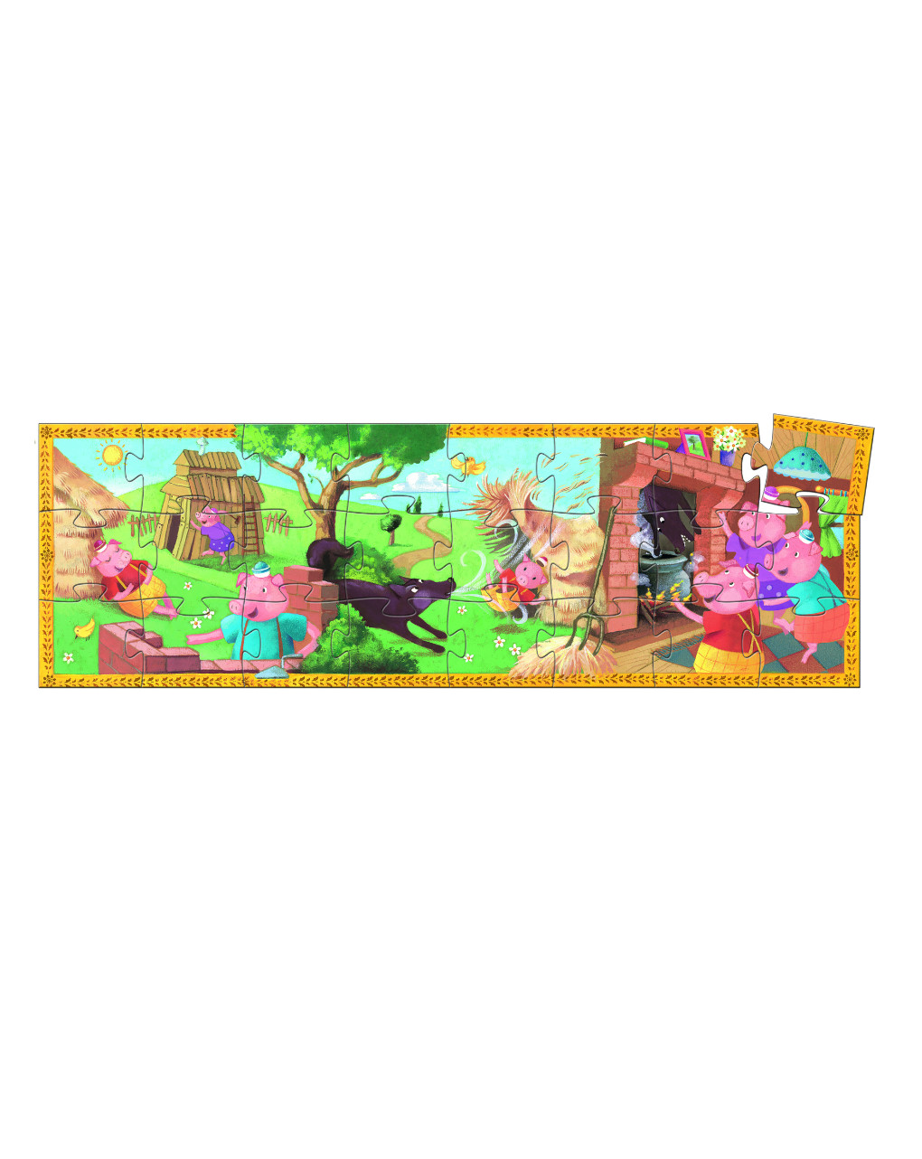 Djeco - the 3 little pigs 24 pcs - puzzle sagomato - Djeco