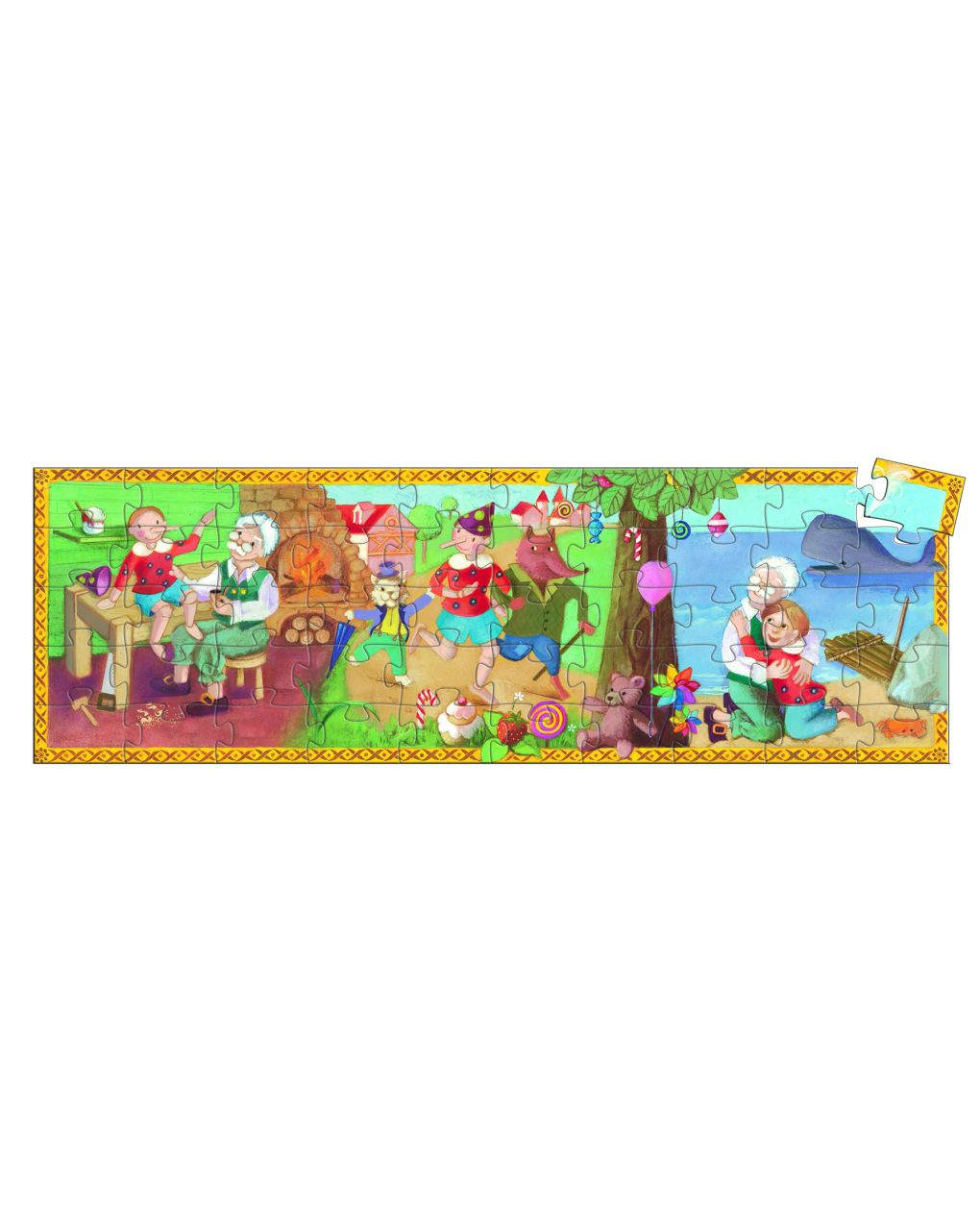 Djeco - pinocchio 50 pcs - puzzle sagomato - Djeco