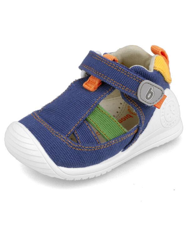 Sandalo ragnetto tela bimbo blu Biomecanics - Biomecanics