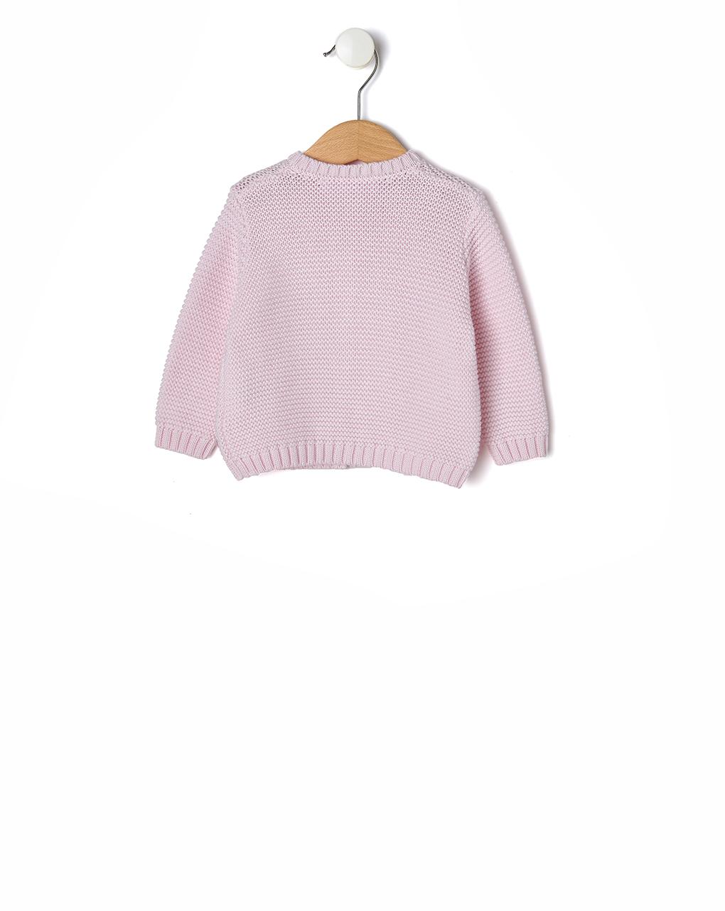 Cardigan in tricot di cotone rosa - Prénatal