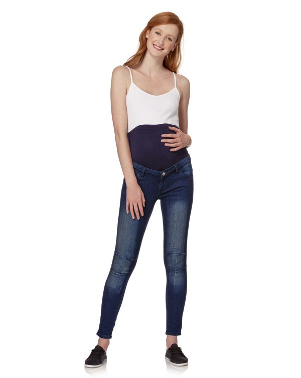 Pantalone skinny in denim blu scuro - Prénatal