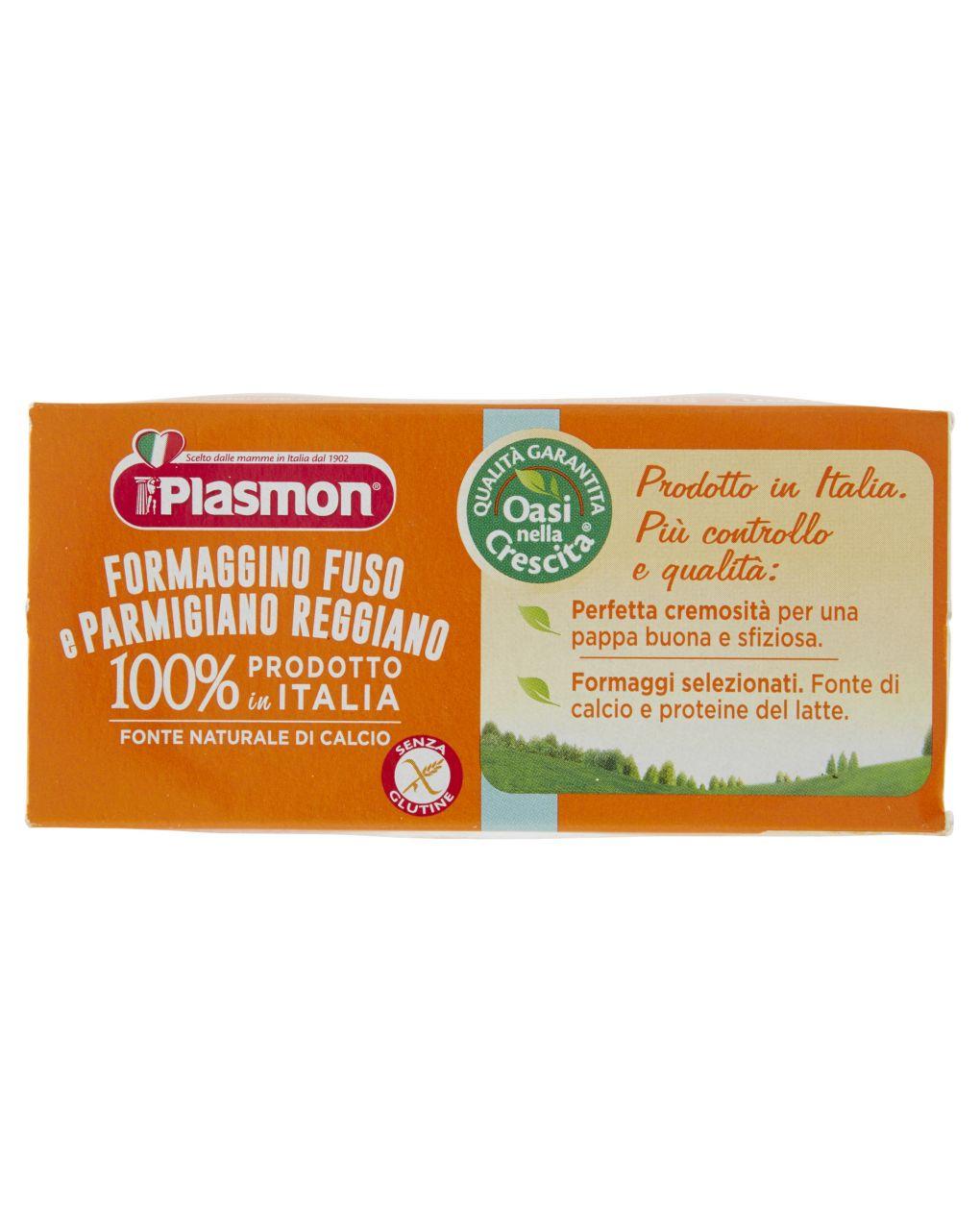 Plasmon - omogeneizzato formaggino fuso e parmigiano 2x80g - Plasmon