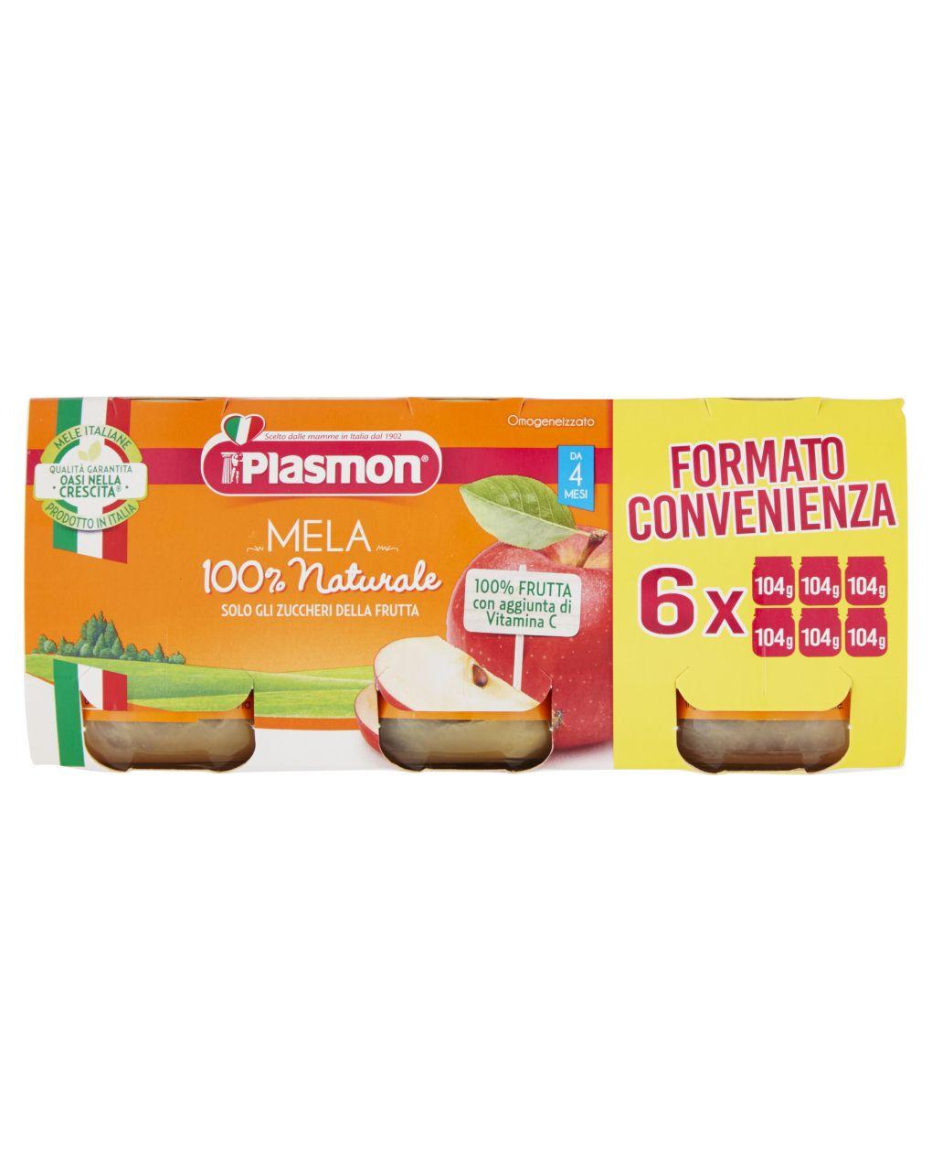 Plasmon - omogeneizzato mela  6x104g - Plasmon