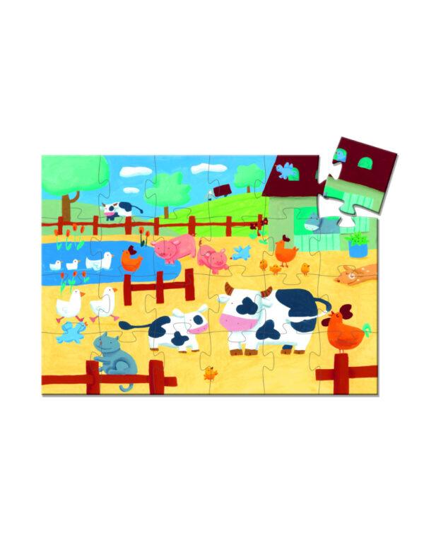 DJECO - THE COWS ON THE FARM 24 pcs - PUZZLE SAGOMATO - Djeco