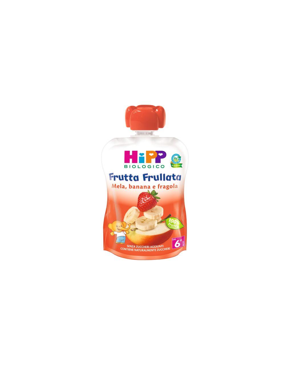 Hipp - frutta frullata mela, banana e fragola 90g - Hipp