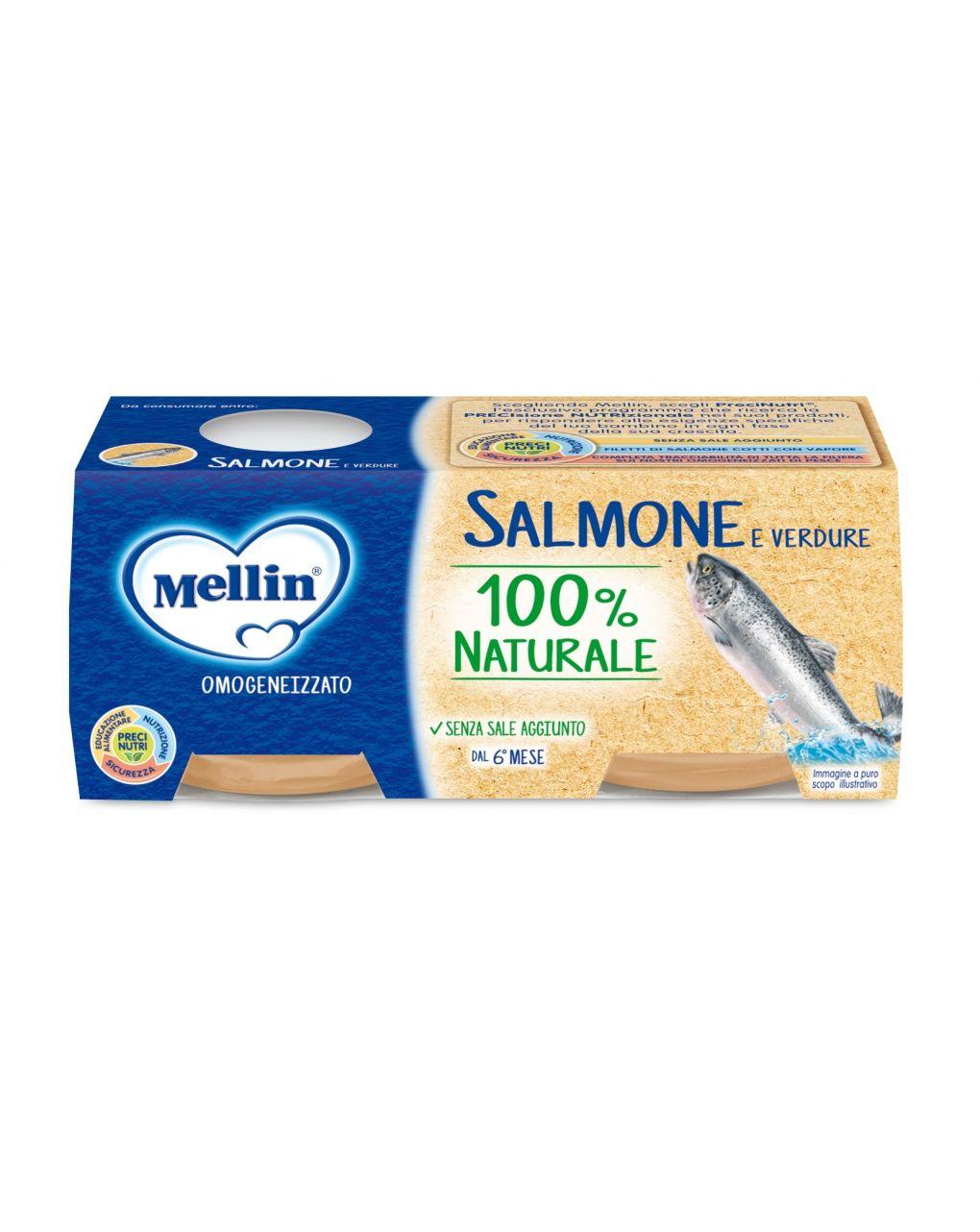 Mellin - omogeneizzato salmone 2x80g - Mellin