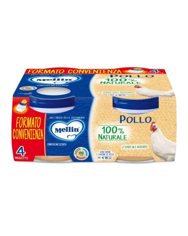 Mellin - Omogeneizzato pollo 4x80g - Mellin