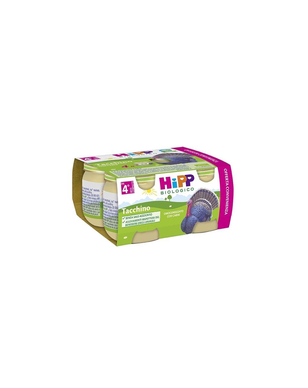 Hipp - omogeneizzato tacchino 4x80g - Hipp