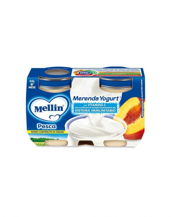 Mellin - Merenda yogurt pesca 2x120g - Mellin