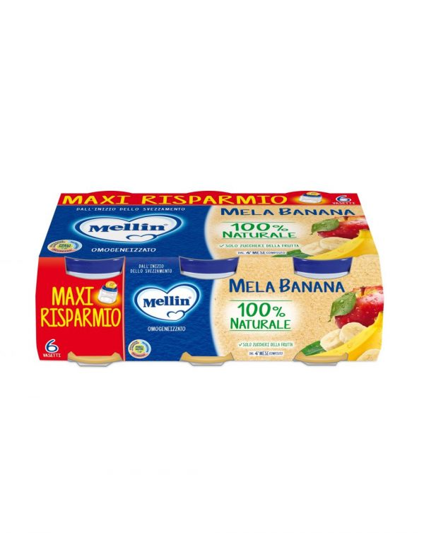 Mellin - Omogeneizzato mela banana 6x100g - Mellin