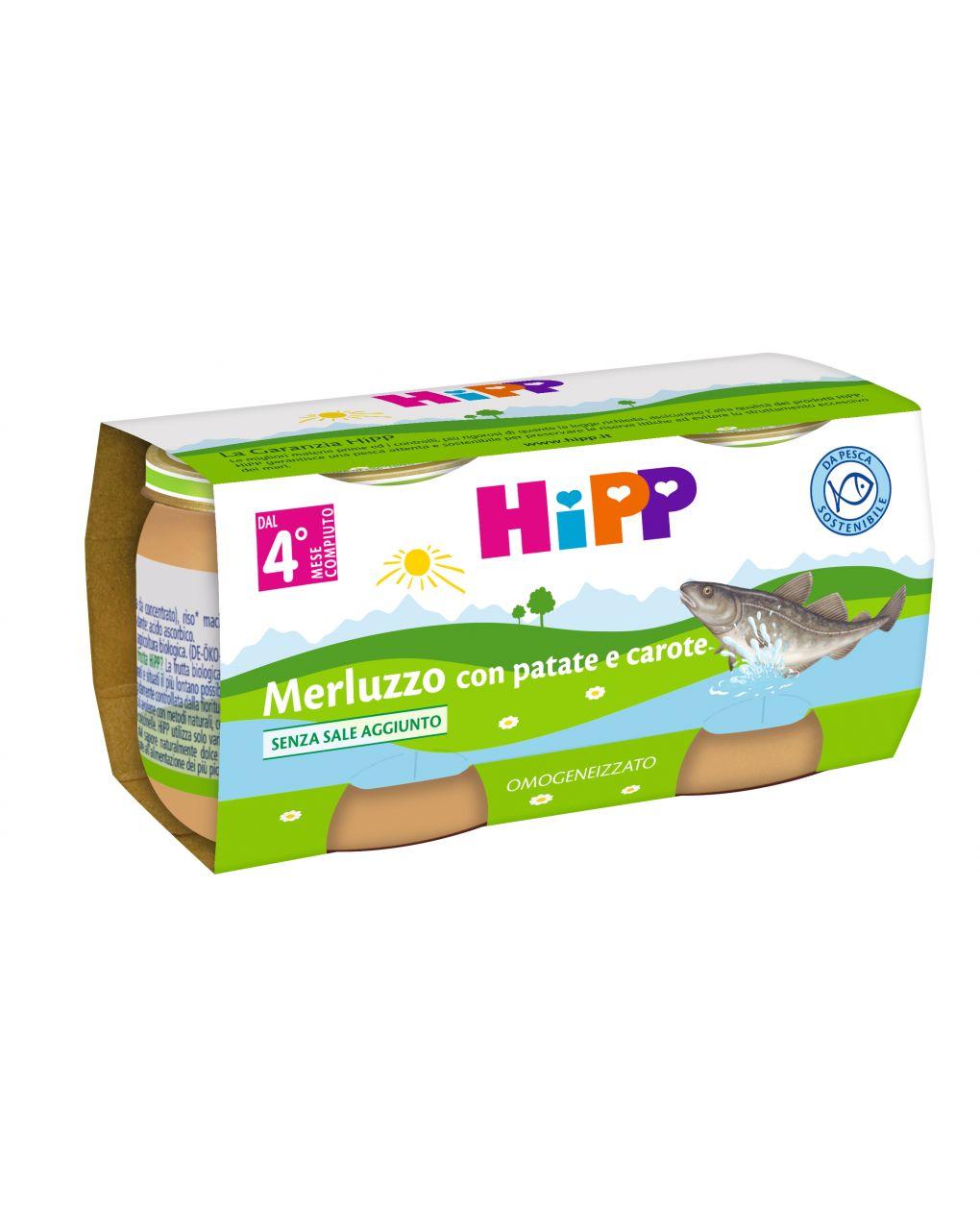 Hipp - omogeneizzato merluzzo con patate e carote 2x80g - Hipp