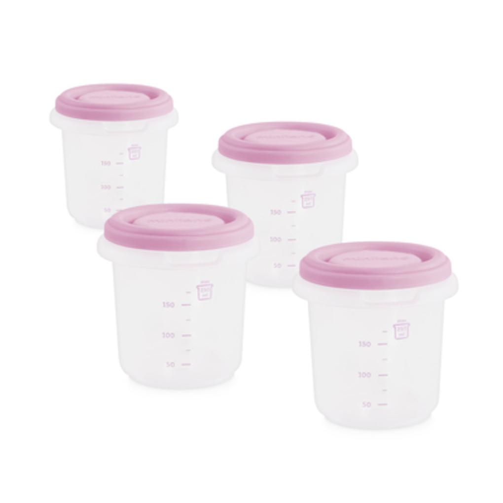 Set 4 contenitori termici rosa miniland - Miniland