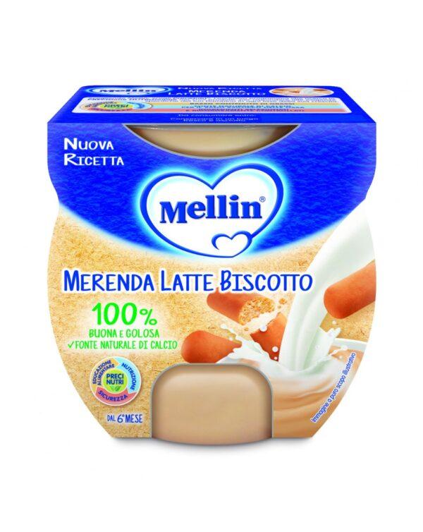Mellin - Merenda latte biscotto 2x100g - Mellin