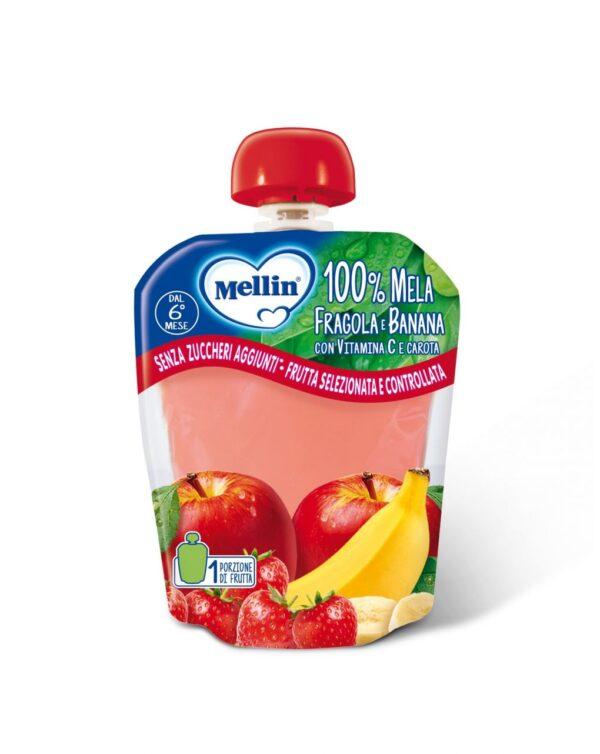 Mellin - Pouch mela fragola banana 90g - Mellin