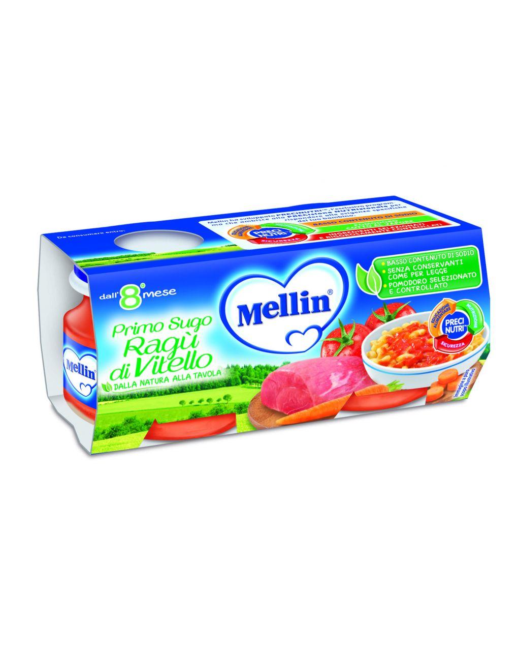 Mellin - sugo ragù di vitello 2x80g - Mellin