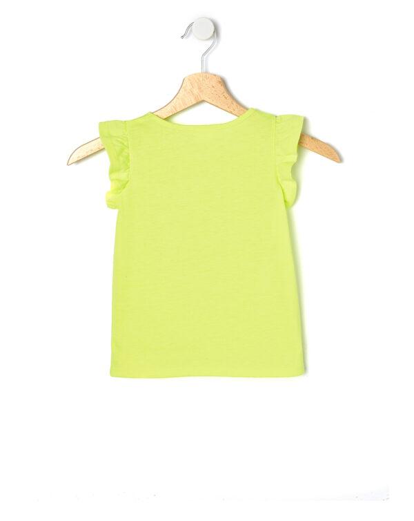 T-shirt cin jersey fluo con stampa glitter - Prénatal