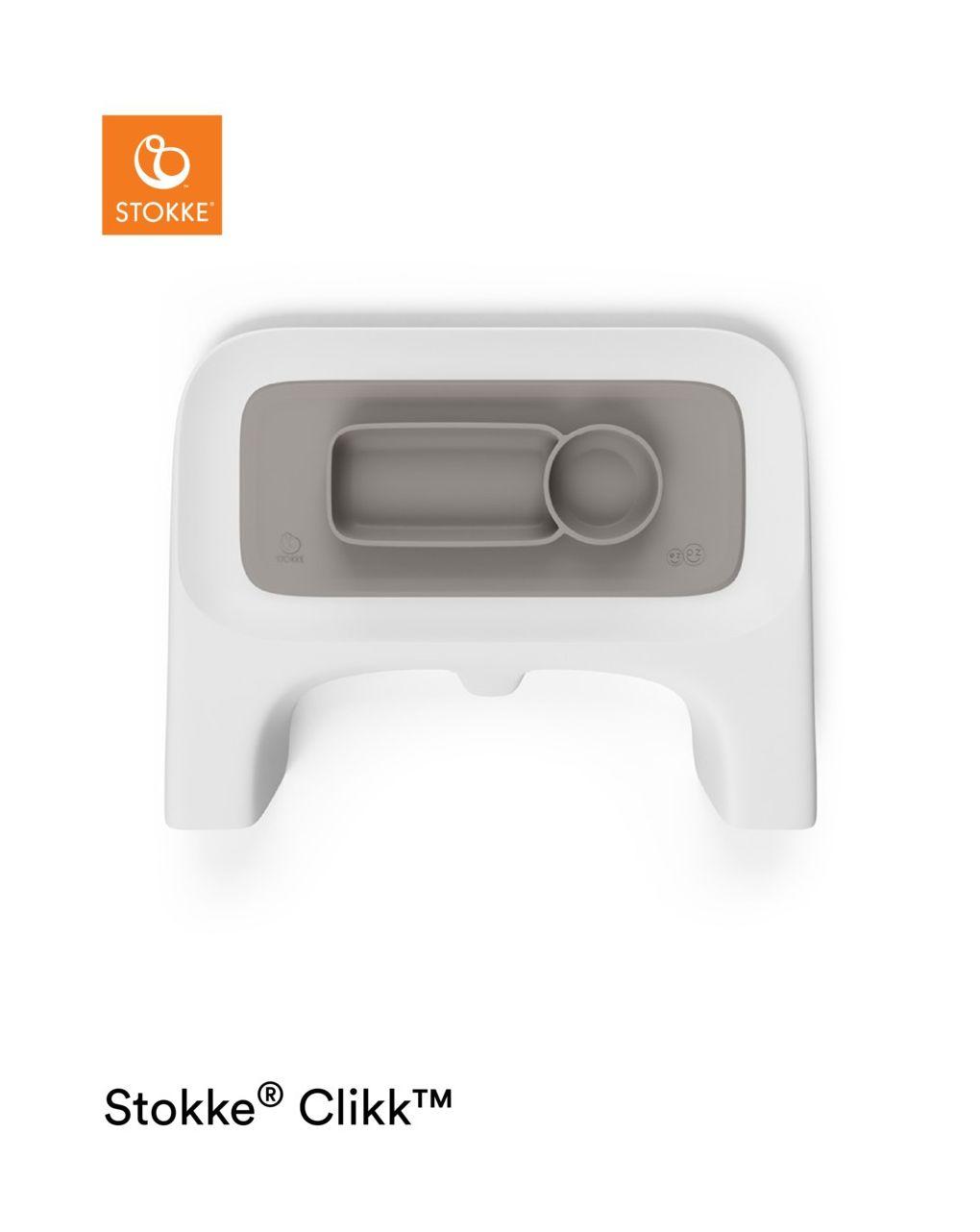 Ezpz™ by stokke™ tovaglietta per vassoio clikk™ - soft grey - Stokke