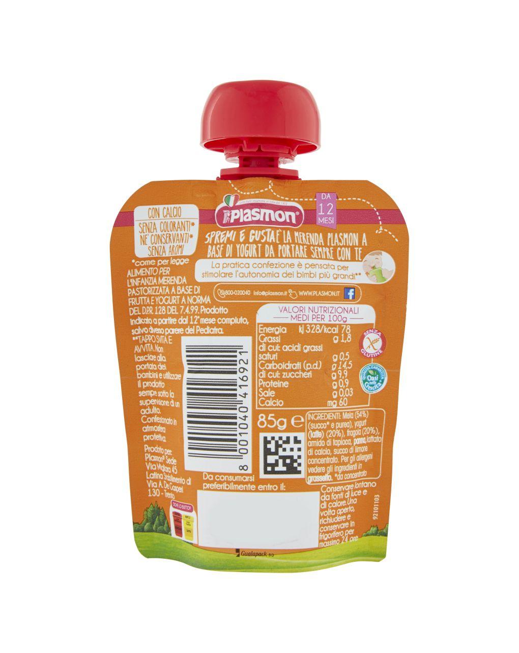 Plasmon - spremi e gusta dessert fragola, mela e yogurt 85g - Plasmon