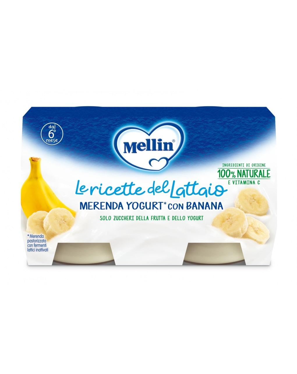Mellin - merenda yogurt banana 2x120g - Mellin
