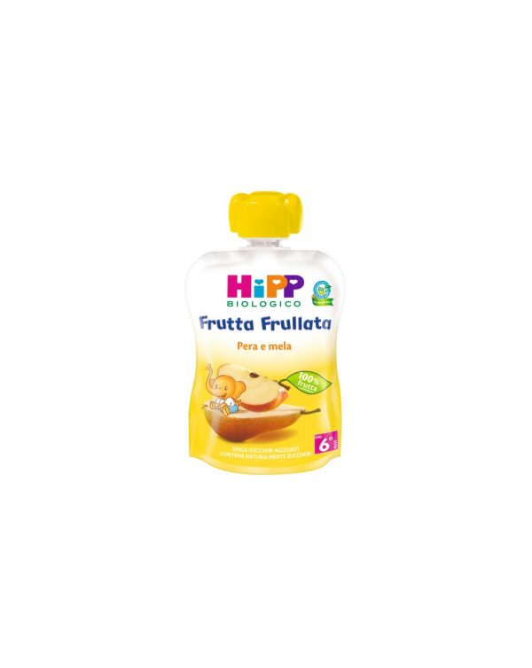 Hipp - Frutta frullata pera e mela 90g - Hipp