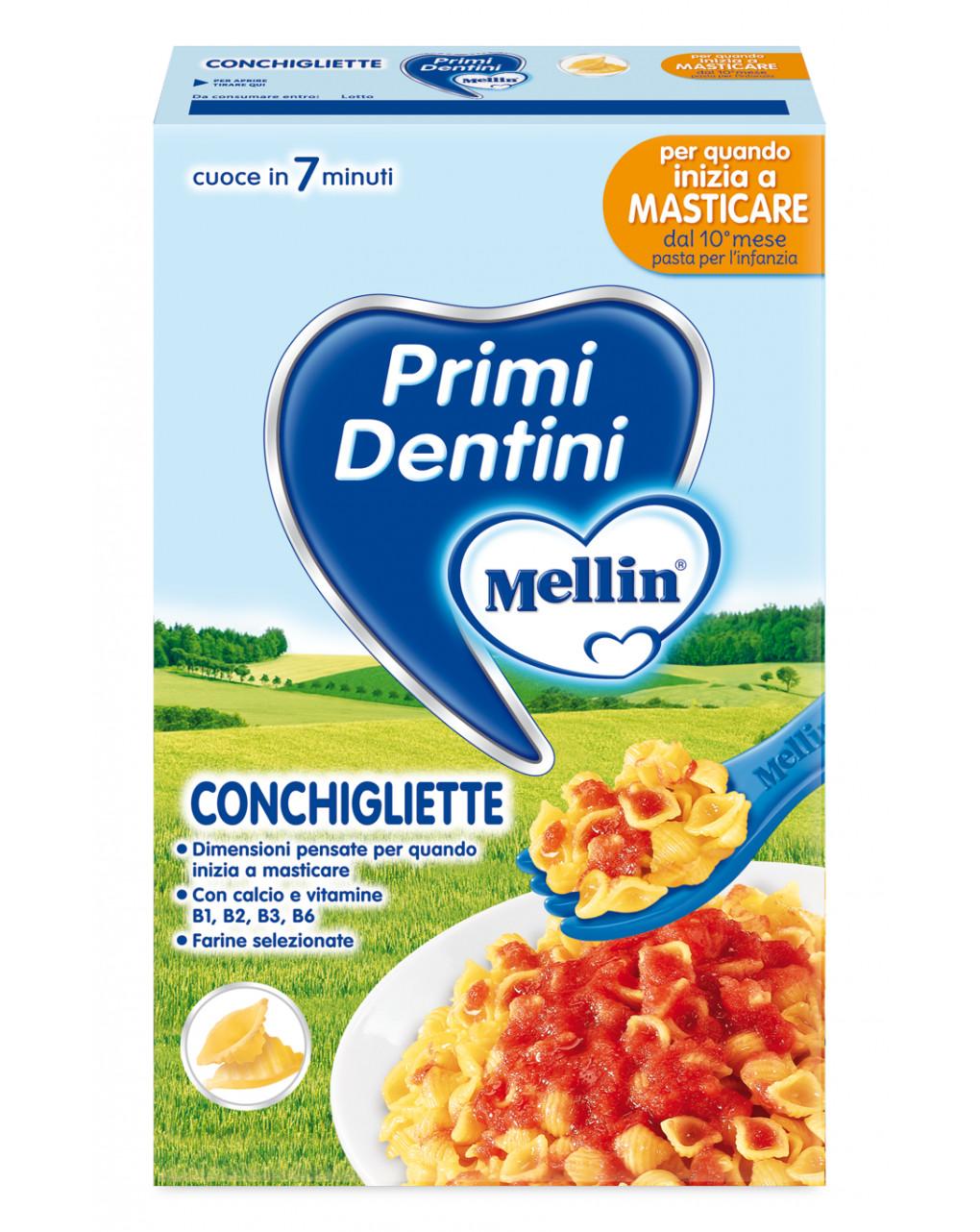 Mellin - pasta conchigliette primi dentini 280g - Mellin