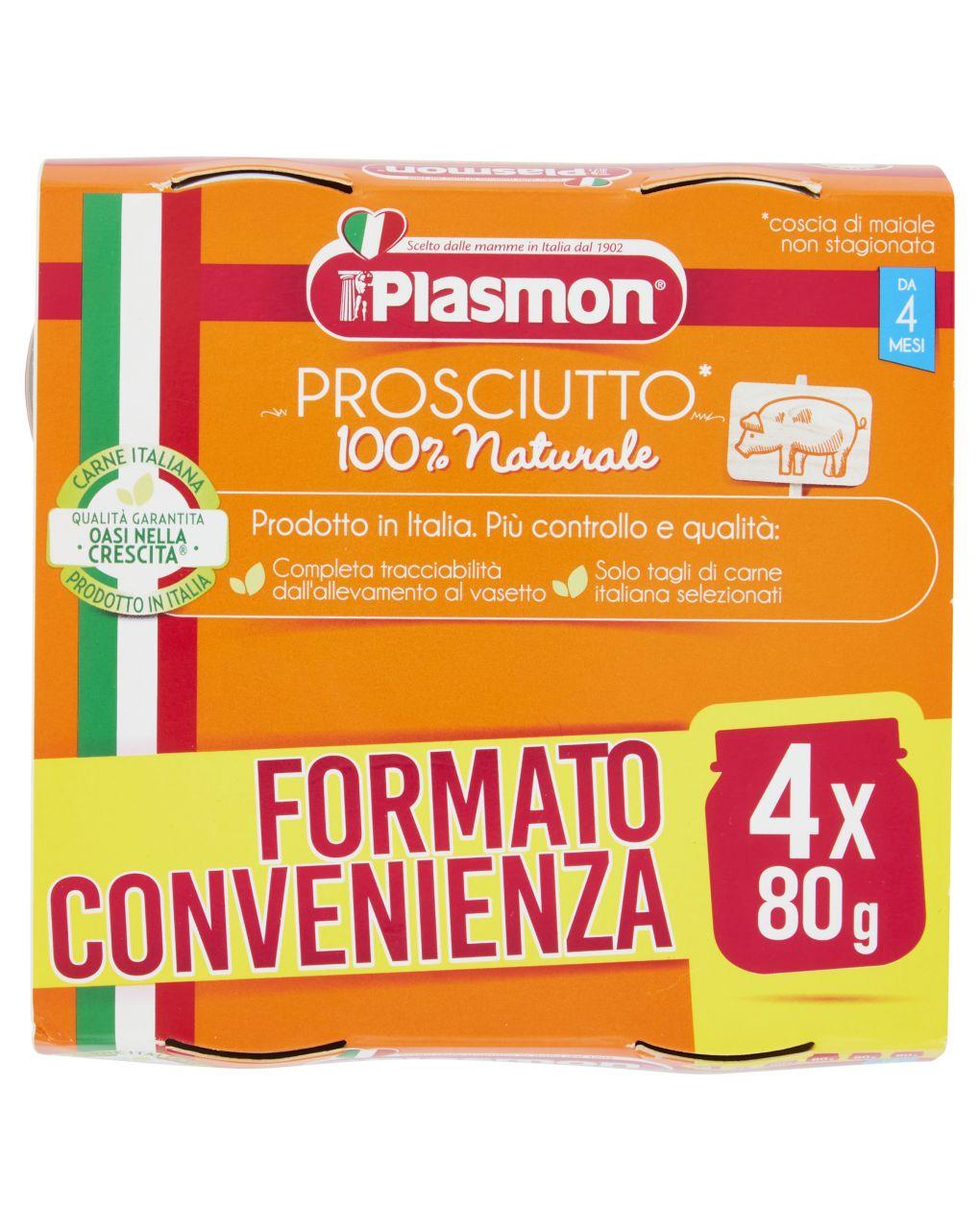 Plasmon - omogeneizzato prosciutto 4x80g - Plasmon