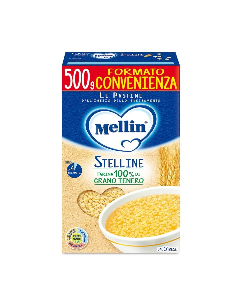 Mellin - pastina stelline 500g - Mellin