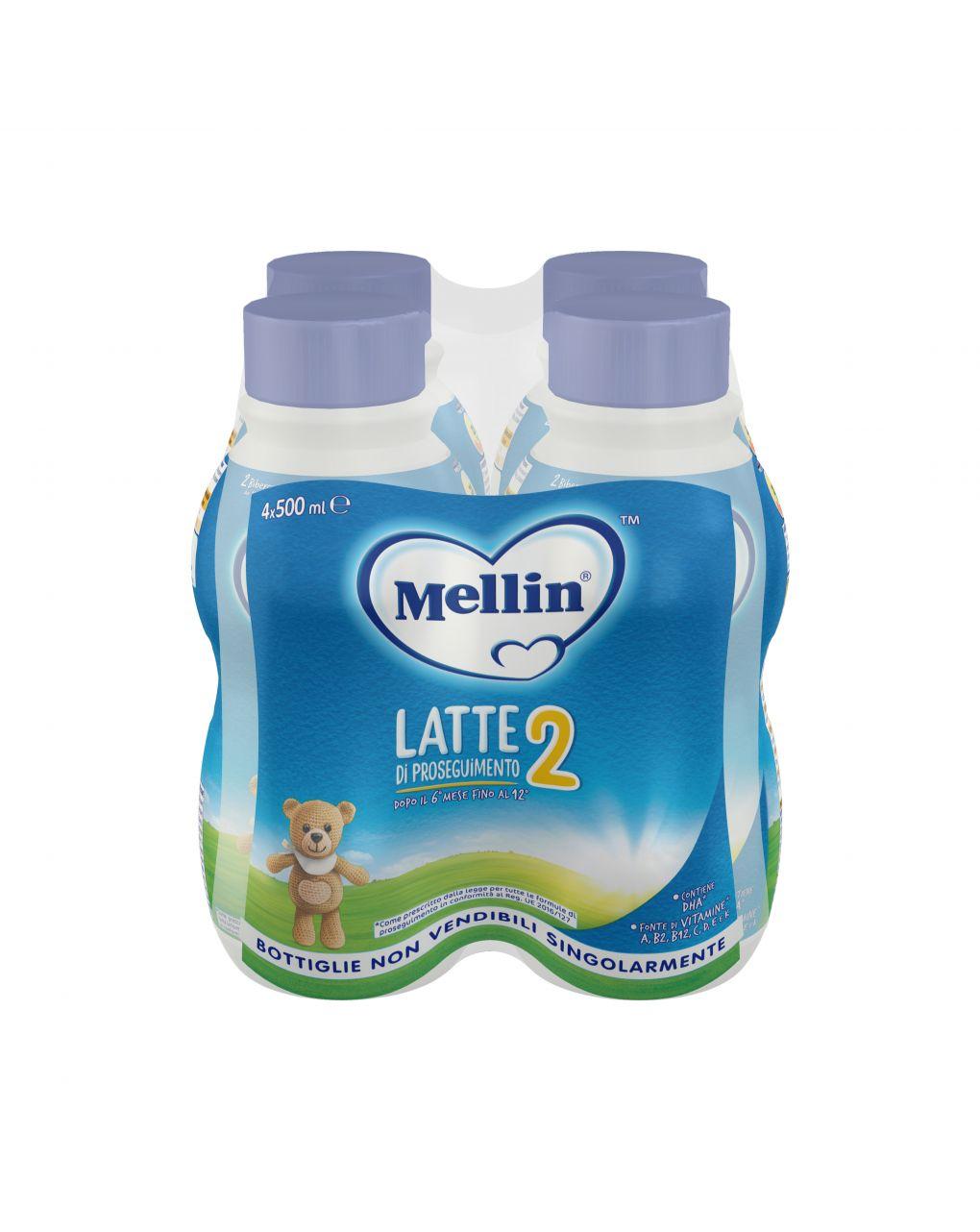 Mellin - latte mellin 2 liquido 4x500ml - Mellin