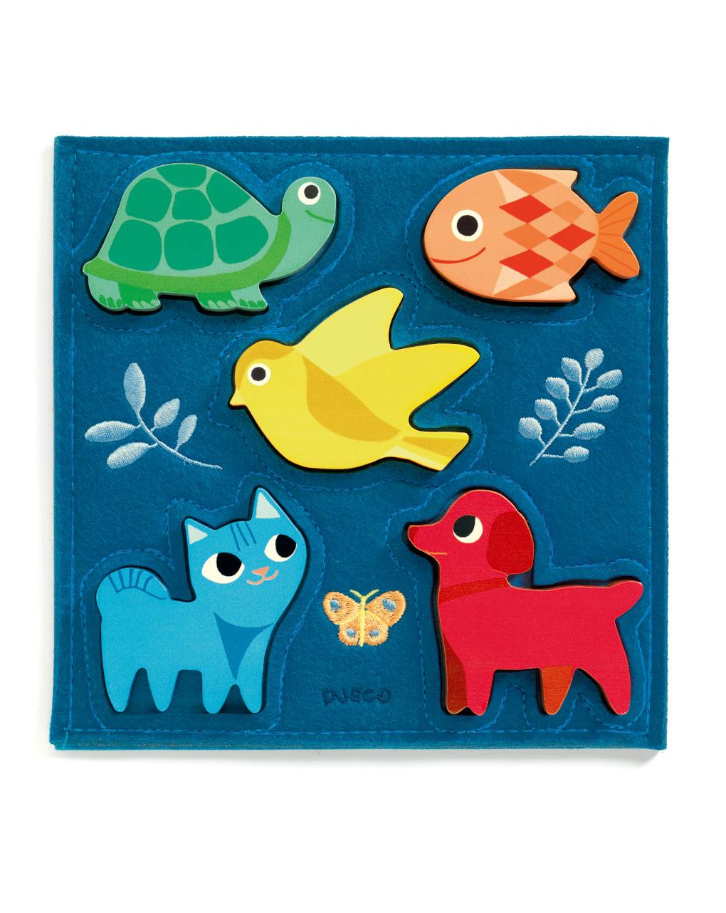 Djeco - gataki - puzzle legno - Djeco